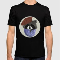 Hip Raccoon Mens Fitted Tee Black SMALL
