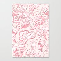 Ghostly Paisley: Bloodlust Canvas Print