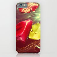 iPhone & iPod Case featuring Lomo Vintage Flower Petals on Water by Eric James Photography