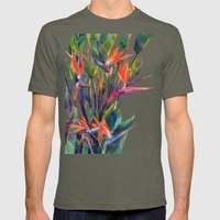 The bird of paradise Mens Fitted Tee Lieutenant SMALL