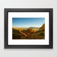 A Golden Light Framed Art Print