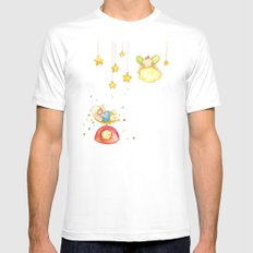 Baby weight Mens Fitted Tee White SMALL