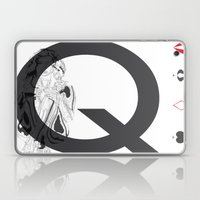 Queen Of Clubs Laptop & iPad Skin