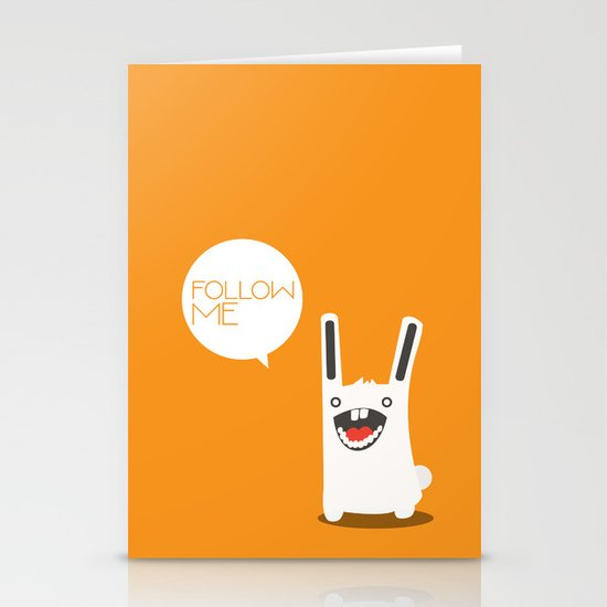 Follow The White Rabbit Stationery Card