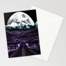 Road to Eternity (vintage moon mountain) Stationery Cards