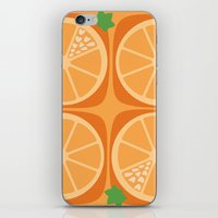 Orange Heart iPhone & iPod Skin