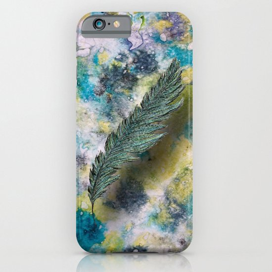 CRAYON LOVE: Aqua Feather iPhone & iPod Case