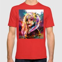 Harley Quinn Mens Fitted Tee Red SMALL