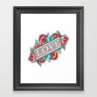 Love & Roses Framed Art Print