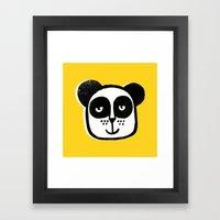 HAPPY PANDA Framed Art Print
