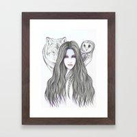 Moonshadow Framed Art Print