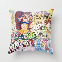 Peace on Earth - Love - Because the World is Round it Turns me On Throw Pillow