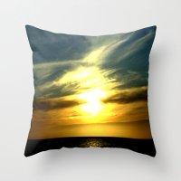 Sunrise over Bass Strait - Tasmania Throw Pillow