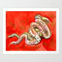 Snakes in the Grass Art Print