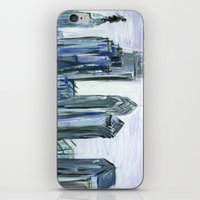 Gray Philadelphia Skyline iPhone & iPod Skin