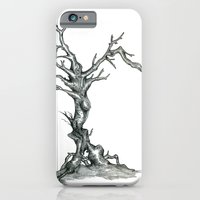 iPhone & iPod Case featuring Gnarled Tree pencil drawing by Grant Wilson