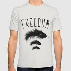 freedom Mens Fitted Tee Silver SMALL