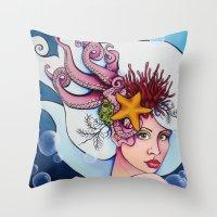 Nereid Kallianassa Throw Pillow