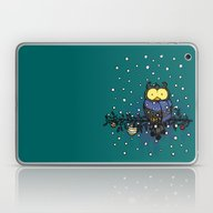 Owl In The Snow Laptop & iPad Skin