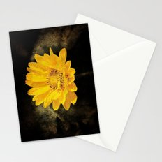 Beautiful Sunflower with Dark Brown Background Stationery Cards