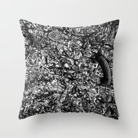 Overtime at the Power Station Throw Pillow
