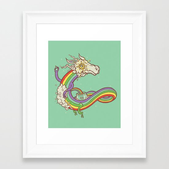 At the end of a rainbow Framed Art Print