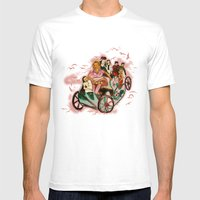Up In The Sky Mens Fitted Tee White SMALL