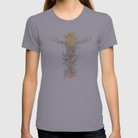 Flying Cross Womens Fitted Tee Slate SMALL