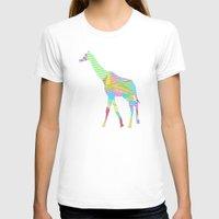 giraffe T-shirts featuring Giraffe by nessieness