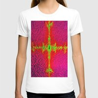 Abstract 3d Block Womens Fitted Tee White SMALL