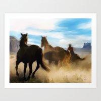 Dusty Trail Art Print