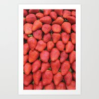 Fresas Art Print