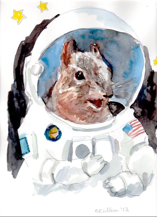 Astro-Nut Art Print