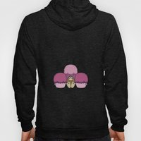 Cute Monster With Pink And Purple Frosted Cupcakes Hoody