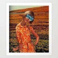 Her Eyes Towards The Sky Art Print