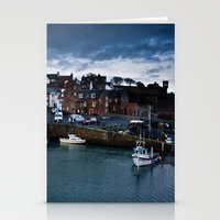 Fishing Harbor Stationery Cards