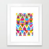 Triangles, Shapes, Colors, Oh My! Framed Art Print