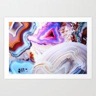 Agate, A Vivid Metamorph… Art Print