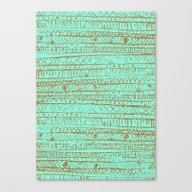 Canvas Print featuring XO Tribal Pattern Gold T… by Crystal ★ Walen