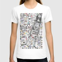 LOVE Mosaic Womens Fitted Tee White SMALL
