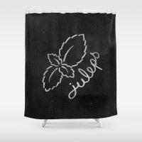Mint Juleps Shower Curtain