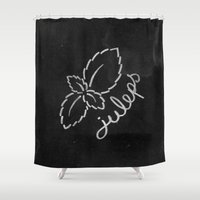 Mint Juleps Shower Curtain