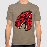 crimson Mens Fitted Tee Tri-Coffee SMALL