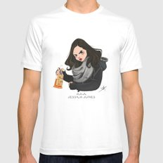 Jessica Jones Mens Fitted Tee White SMALL