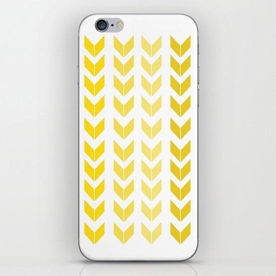 chevron yellow iPhone & iPod Skin
