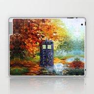 Starry Autumn Blue Phone… Laptop & iPad Skin