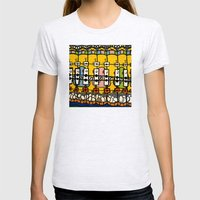 VIDEO CHICKENBOT INSPECTORS and the GOLDEN EGG MERRY-GO-ROUND Womens Fitted Tee Ash Grey SMALL