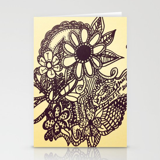 Flower Garden Stationery Card