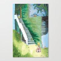 Princess Searching Canvas Print