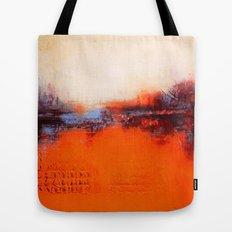 Orange and White Tote Bag